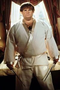 Chris Farley in the original Beverly Hills Ninja